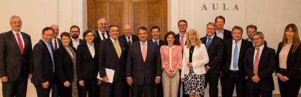 BVMW beim Bundeswirtschaftsminister S. Gabriel 5.7.2016