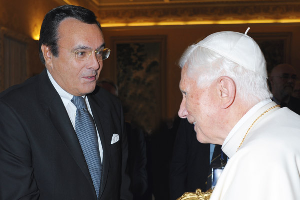 Mario Ohoven und der Papst