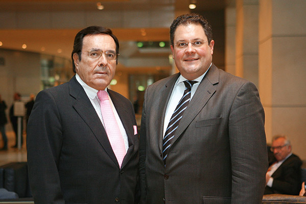 Mario Ohoven im persönlichen Gespräch mit FDP-Generalsekretär Patrick Döring.